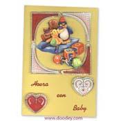 borduren baby met hartjes