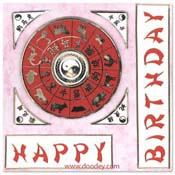 verjaardags kaart chineese horoscoop
