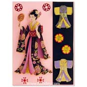 kaart geisha met kimonos para