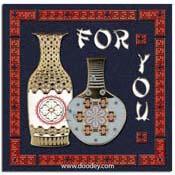 kaart for you met vasen
