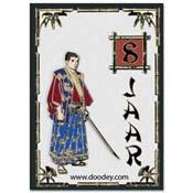 kaart verjaardag met samurai