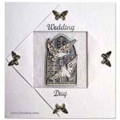 kaart trouwdag vlinders en duiven