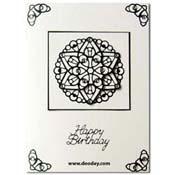 kaart mandala zwart wit birthday