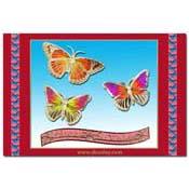 verjaardags kaart vlinders