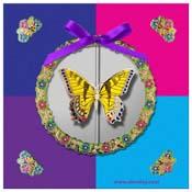 kaart vlinders met vlinderhoekjes