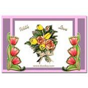 kaart bloemen met tulpenhoekje