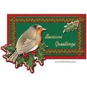 kaart met vogeltje seasons greetings