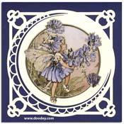 kaart flower fairy met maan achtergrond
