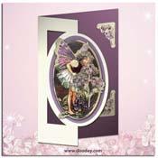 flower fairy heliotrope kaart