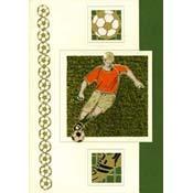 voetbal kaart met voetballer