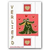kaart verliefd met krokodillen