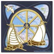 Marine card sailing boats