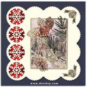 Flower Fiaries kaart pijnboom