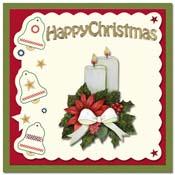 Kerstkaart met kerststukje