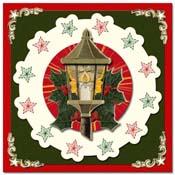Kerstkaart met borduursterren