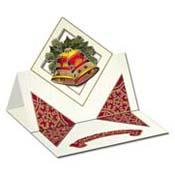 Kerstkaart met 3D klokken