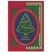 kaart borduren met kerstboom