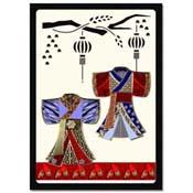 orientaalse kaart kimono