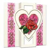 Romantische 3D kaart met roos