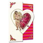 Valentijns kaart 3D Cupido