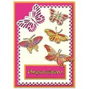 Kaart gefeliciteerd met vlinders