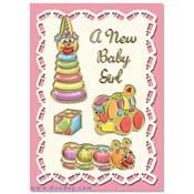 kaart geboorte met speelgoed