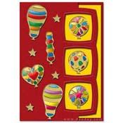 kaart verjaardag met ballonnen