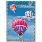 kaart met luchtballonnen en wolken