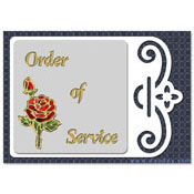 kaart met roos