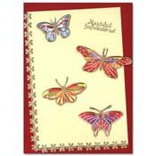 kaart met vlinders