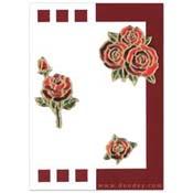 kaart met rozen