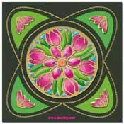 tulpen mandala kaart