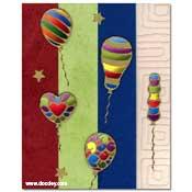 scrapbook verjaardagkaart balonnen