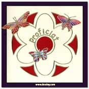 kaart proficiat met vlinders