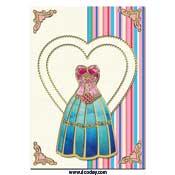 kaart met fashion jurk