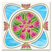 mandala kaart met tulpen