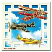 jongenskaart met vliegtuigen