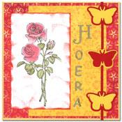 Scrapkaart met roos