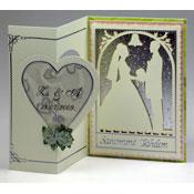 huwelijkskaart man vrouw silhouet