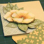 3D bloemen mini bedankt kaartje