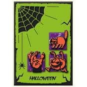 Halloween kaart met spinneweb