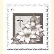 3D condoleance bloemenkaartje