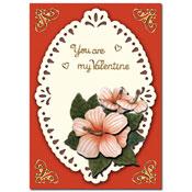 valentijnskaart met bloem
