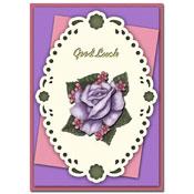 succes kaart met bloem