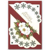 Kerstkaart met kerstbloemen
