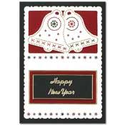 kaart gelukkig nieuwjaar met klokken