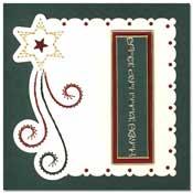 kaart borduren kerstkaart met vallende ster