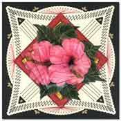borduurkaart met bloem