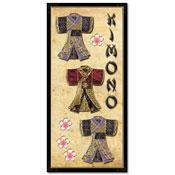 ori?ntaalse kaart met 3 kimono`s