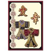 ori?ntaalse kaart met 2 kimono`s